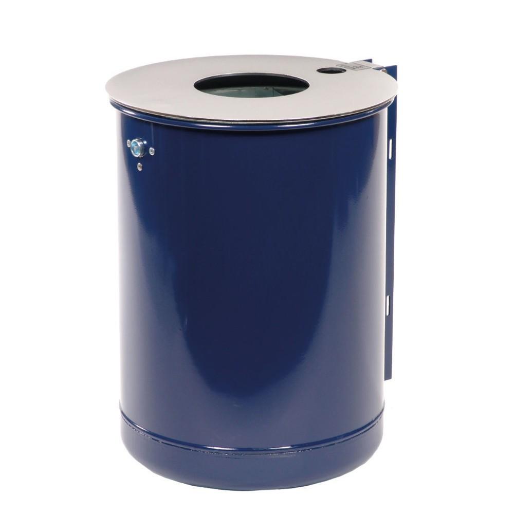 Image of Wetterbeständige Abfallbehälter aus Metall – für Sauberkeit im Aussenbereich Um das Betriebsgelände ordentlich und sauber zu halten, sind Abfallbehälter unverzichtbar. 50-Liter-Abfalleimer aus verzinktem Stahl eignen sich durch ihr grosses Behältervolumen