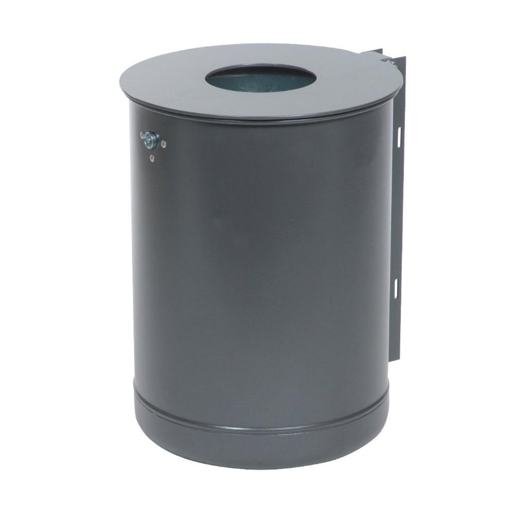 Image of Wetterbeständige Abfallbehälter aus Metall – für Sauberkeit im Aussenbereich Um das Betriebsgelände ordentlich und sauber zu halten, sind Abfallbehälter unverzichtbar. 50-Liter-Abfalleimer aus verzinktem, pulverbeschichtetem Stahl eignen sich durch ihr gr