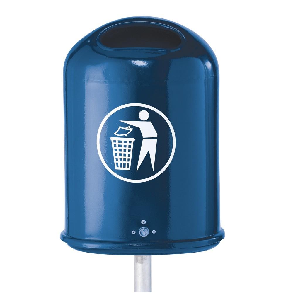 Image of Abfallbehälter aus Stahl für den Aussenbereich Für den Aussenbereich braucht man robuste und wetterfeste Müllbehälter. Verzinkt ist das Material besonders langlebig und gut geschützt vor Korrosion. Damit Regenwasser gut abfliessen kann, verfügt der Abfall