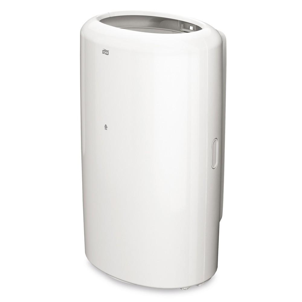 Image of Der Abfallbehälter TORK® Box für sanitäre Anlagen In Waschräumen und auf Toiletten sind kleine Abfallboxen unerlässlich, sei es für benutzte Papiertücher nach dem Händewaschen oder Hygiene-Abfälle. Der TORK® Abfalleimer eignet sich für diesen Zweck besond