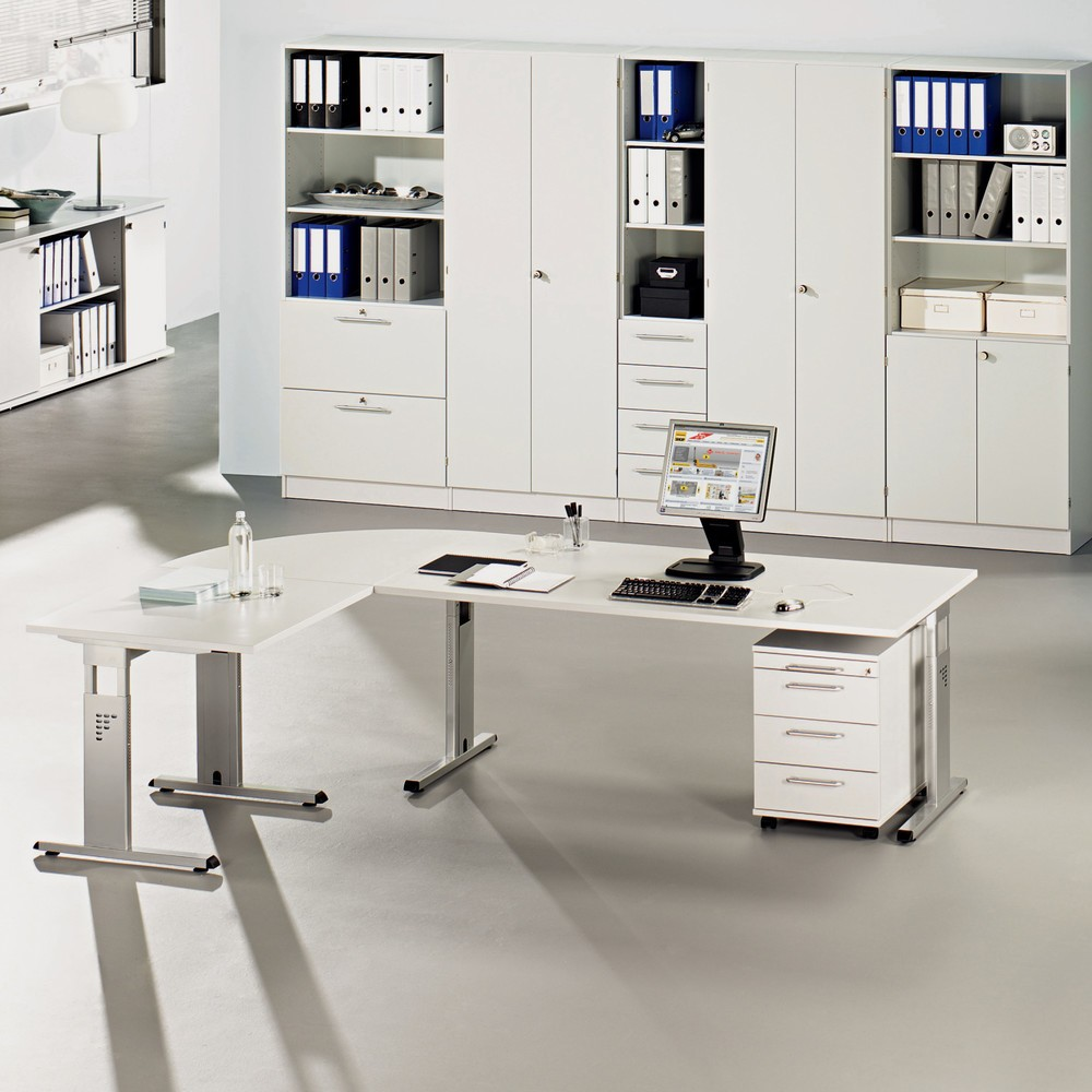 Image of  Masse H x B x T mm: 680-825 x 600 x 800; Farbe: officegrau; Zerlegte Anlieferung, leichte MontageAnbautisch Solid, BxT 600 x 800 mm, Ahorn Anbautisch Solid, BxT 600 x 800 mm, Ahorn