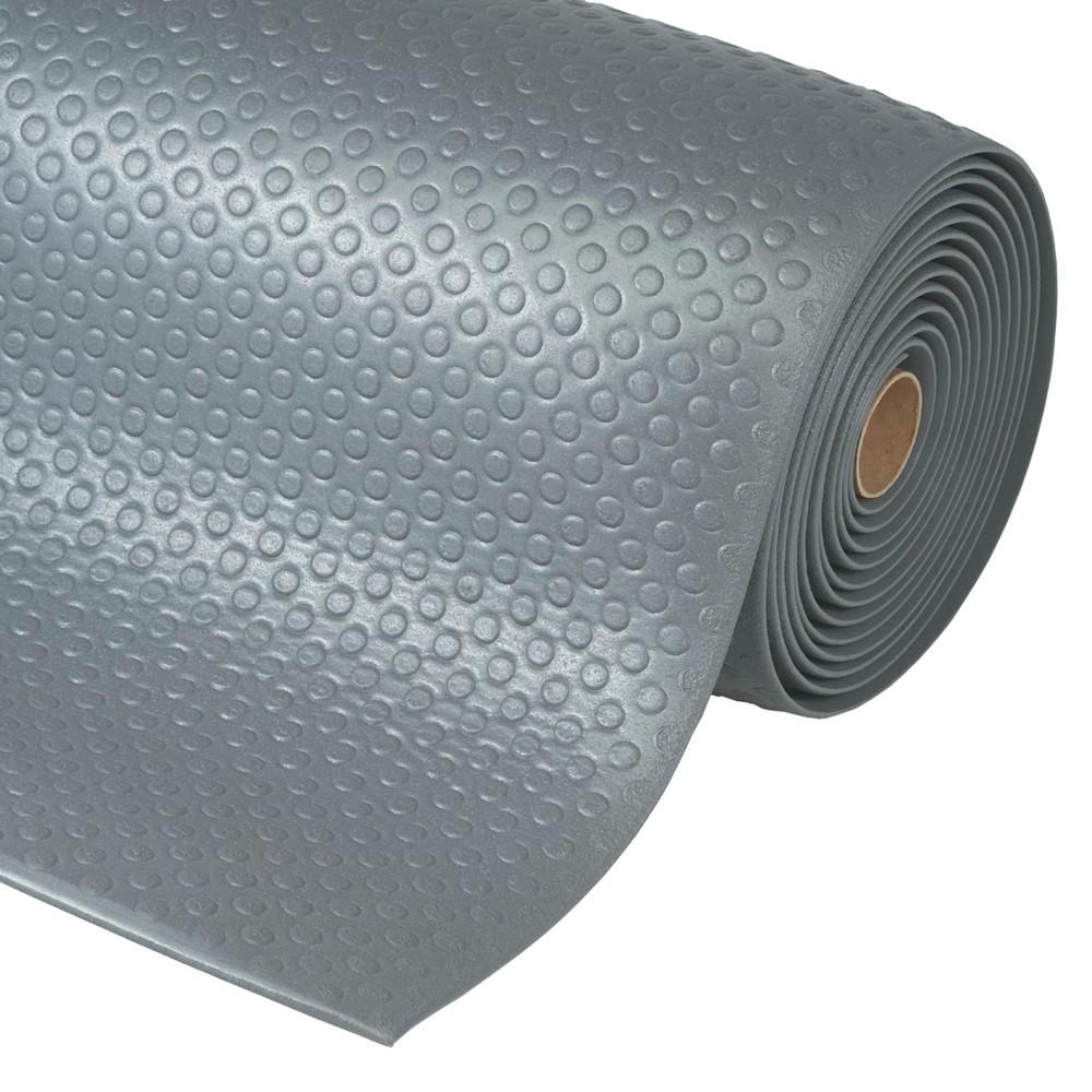 Image of Ergonomische Anti-Ermüdungsmatten aus PVC/Vinylschaum mit rutschfester Oberfläche Diese Anti-Ermüdungsmatte besteht aus thermoplastischem Vinyl, das Vibrationen verringert, den Trittschall dämpft und Kälte isoliert. Auf ihr stehen und arbeiten Sie rücken-