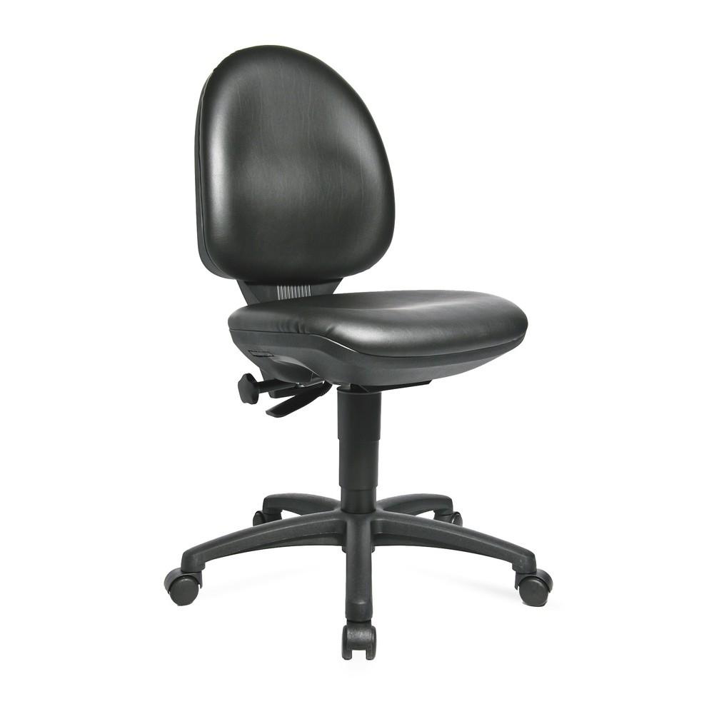 Image of Dynamisch sitzen mit dem Arbeitsdrehstuhl Tec 50 Dieser Arbeitsstuhl ist höhenverstellbar und darauf abgestimmt, Ihren Rücken während der Arbeit dauerhaft zu entlasten. Über die stufenlose Sitzhöhenverstellung passen Sie den Drehstuhl optimal an Ihre Körp