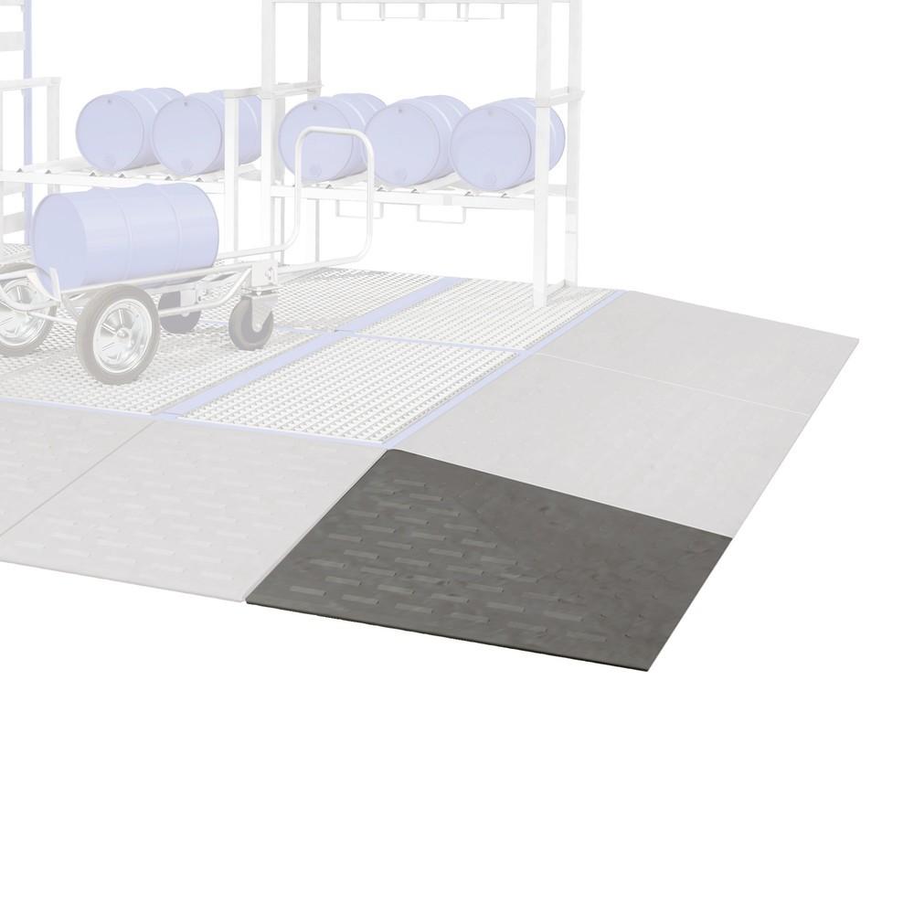 Image of Auffahrecken aus Polyethylen Die Auffahrecken asecos® für PE-Bodenelemente ergänzen den Verbund aus PE-Wannen optimal. Der Kunststoff Polyethylen ist besonders resistent und empfiehlt sich für die Lagerung von vielen Säuren und Laugen. Die gesamte Wannenk