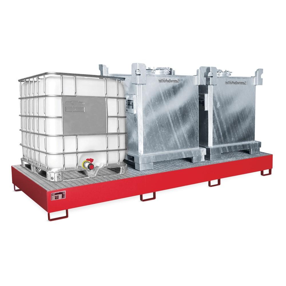 Image of Auffangwanne für KTC/IBC aus Stahl – sichere Aufbewahrung von Gefahrgütern Die Auffangwanne aus Stahl für KTC/IBC sorgt für eine sichere und stabile Aufbewahrung Ihrer Grosscontainer mit flüssigen Gefahrgütern. Sie verfügt über eine Übereinstimmungserklär