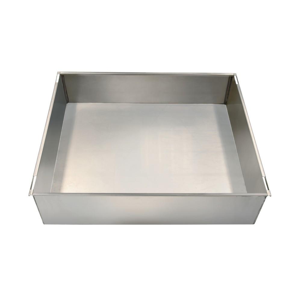 Image of  Tragkraft: 50 kgAuffangwanne für Edelstahlschränke stumpf® mit einer Breite von 450 mm Auffangwanne für Edelstahlschränke stumpf® mit einer Breite von 450 mm