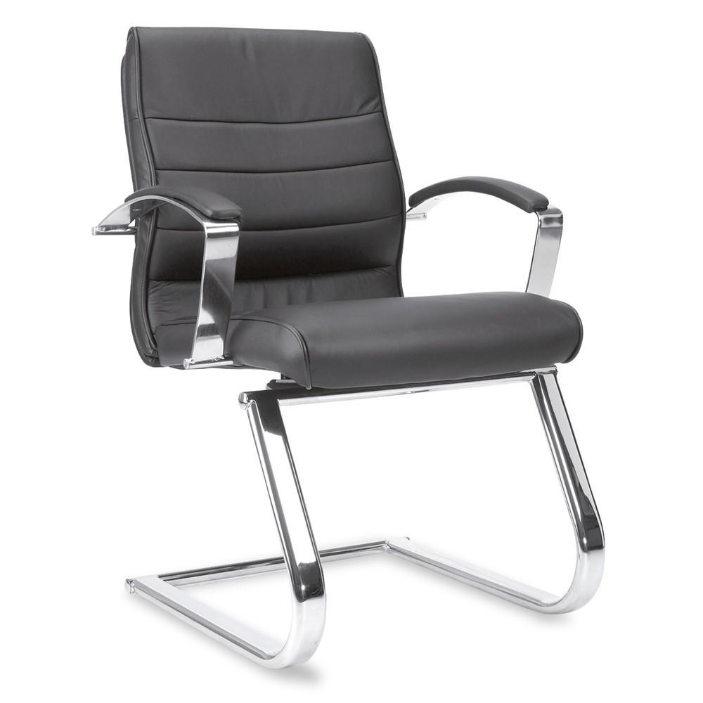Image of Besuchersessel Topstar® Business Pro – exklusive Bestuhlung für Ihre Gäste Dieser Leder-Sessel ist hochwertig verarbeitet. Rückenlehne und Sitz sind gesteppt und gewährleisten auch bei längerem Sitzen eine hohe Bequemlichkeit. Auf der Vorderseite ist der