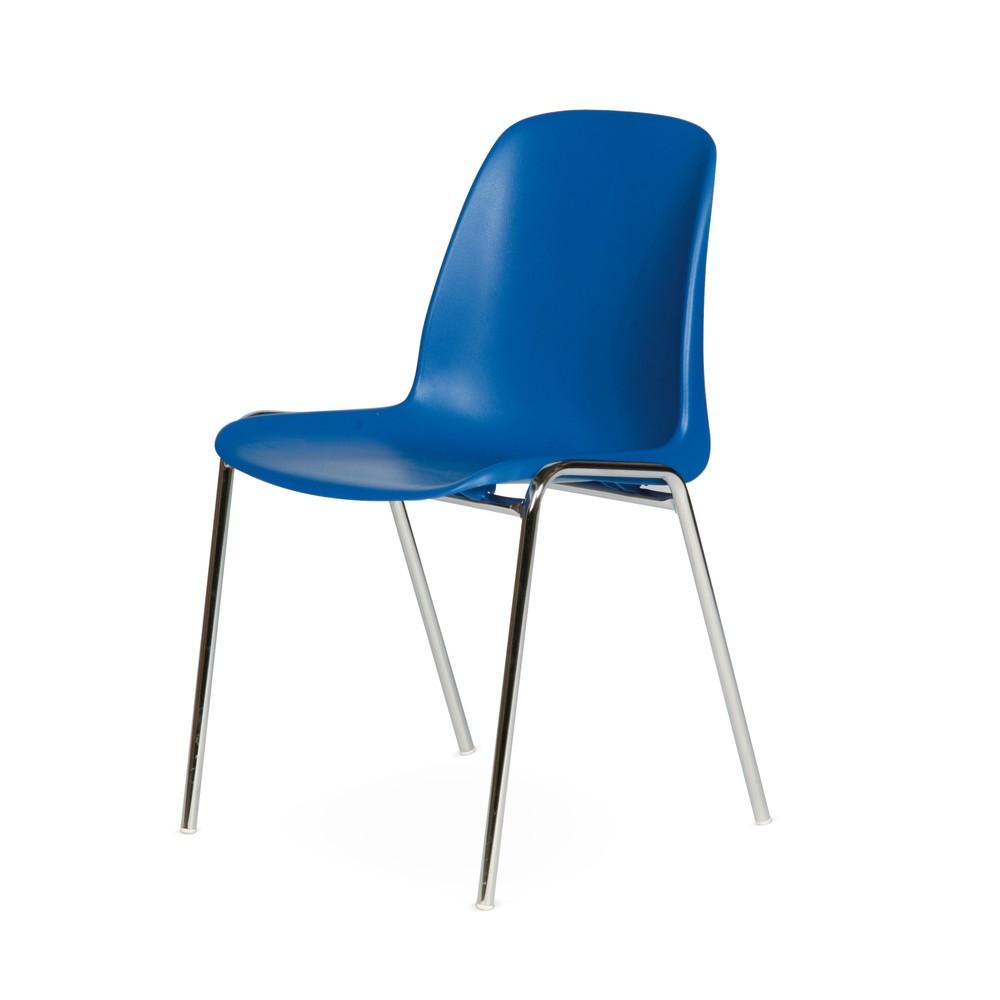 Image of Bequemer und einfacher Besucherstuhl Der Besucherstuhl BASIC ist leicht und handlich. Er ermöglicht eine schnelle und effektive Bestuhlung auch grösserer Räume. Ideal für Warteräume und als Gästestuhl geeignet, bietet er eine bequeme Sitzgelegenheit für v