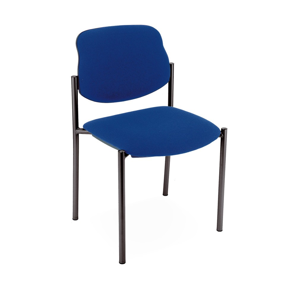 Image of Einfach aufbewahrt und bequem zu sitzen Der bequeme Besucherstuhl Styl mit Polster-Rückenlehne kann für Warteräume, Konferenzräume oder auch im Büro benutzt werden. Durch seine praktische Form ist er für Stuhlreihen geeignet und kann bei Nichtgebrauch ein
