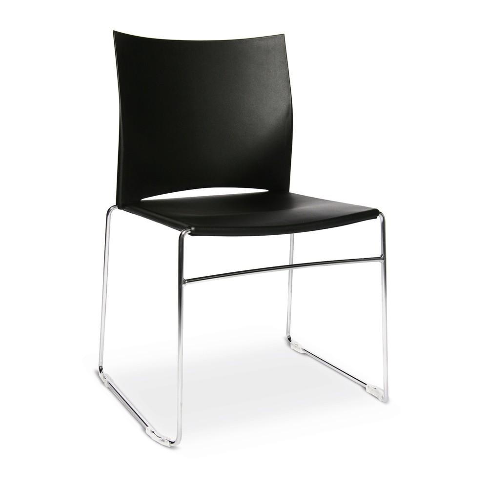 Image of Besucherstühle Topstar® W-Chair – für eine funktionale Bestuhlung Der Besucherstuhl aus Kunststoff eignet sich besonders zur Bestuhlung von Räumen, in denen mehrere Stühle nebeneinander platziert werden sollen. Die Möglichkeit der Reihenverbindung gewährl