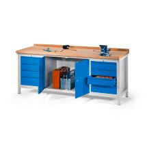 Werkbank mit Schublade und Schrank