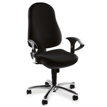 Bürodrehstuhl mit gepolsterter Lehne