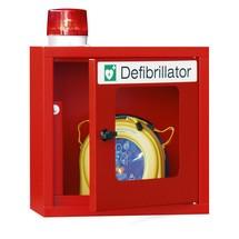 Defibrillator-Schrank mit akustischem Signal