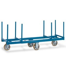 Blauer Langmaterialwagen aus geschweisster Stahlkonstruktion