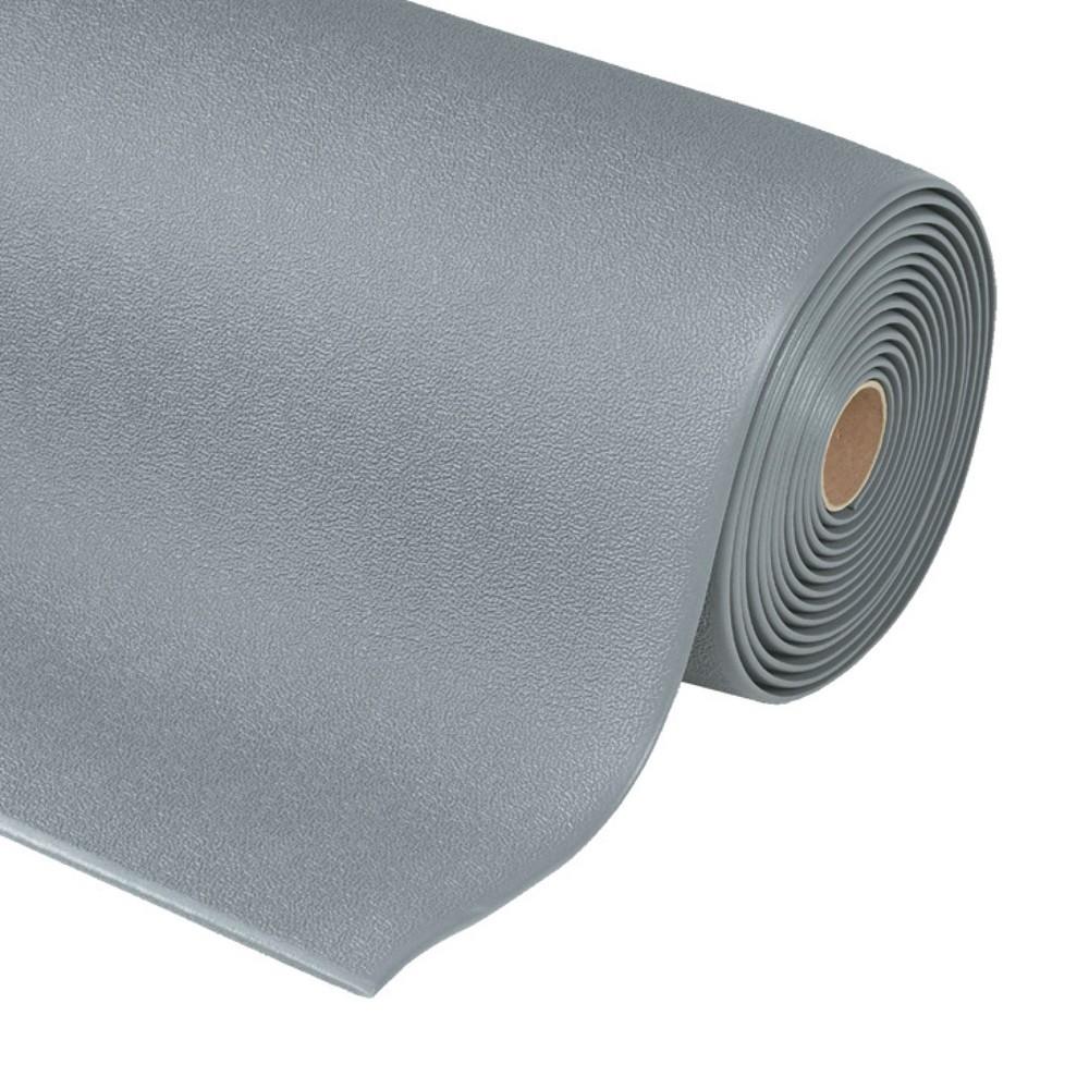 Image of Ableitende Bodenmatte mit ergonomischen Vorteil Die Bodenmatte ESD aus Schaumvinyl bietet wirksamen Schutz gegen statische Aufladungen. Mit einer Materialstärke von 9,4 mm reduziert die Bodenmatte Ermüdungserscheinungen bei Steharbeiten. Die aufgeraute Ob