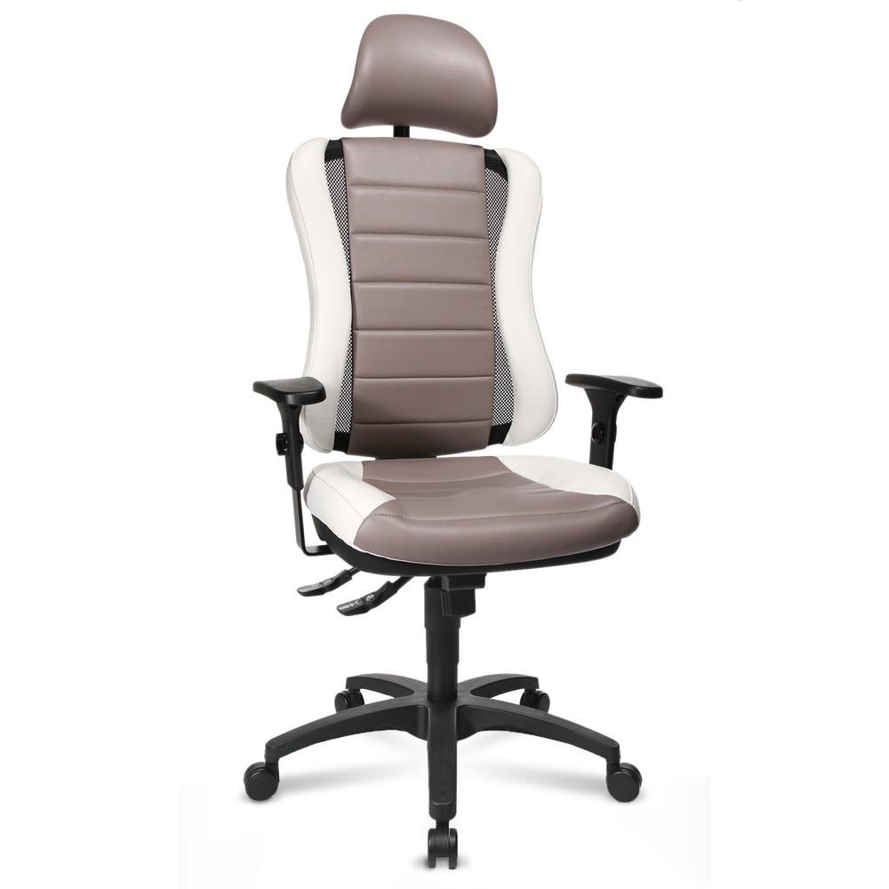 Image of Bürostuhl mit Kopfstütze für eine körperfreundliche Sitzhaltung Wenn Sie Ihre Arbeit in einem Büro erledigen und langes Sitzen für Sie alltäglich ist, sind die richtigen Schreibtischstühle enorm wichtig, denn diese unterstützen Sie bei einer gesunden Körp