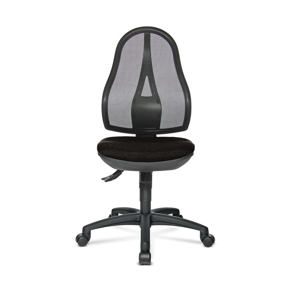 Image of Ein Bürostuhl, der sich Ihrer Sitzhaltung anpasst Während eines Arbeitstages wechseln wir laufend unsere Sitzposition. Durch die Punktsynchron-Mechanik passen sich sowohl Lehne als auch Sitz dieses Bürostuhls im Neigungswinkel dabei automatisch Ihren Bewe