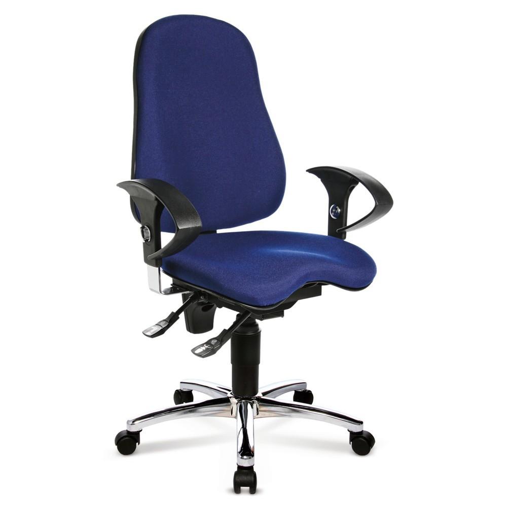 Image of Bürodrehstuhl Ortho 10: Mehr Komfort bei langem Sitzen Ein ergonomischer Drehstuhl wie der Ortho 10 ist ideal, wenn Sie ganztags im Büro arbeiten. Mit der stufenlosen Sitzhöhenverstellung stellen Sie schnell eine bequeme Arbeitshöhe ein und sorgen so für