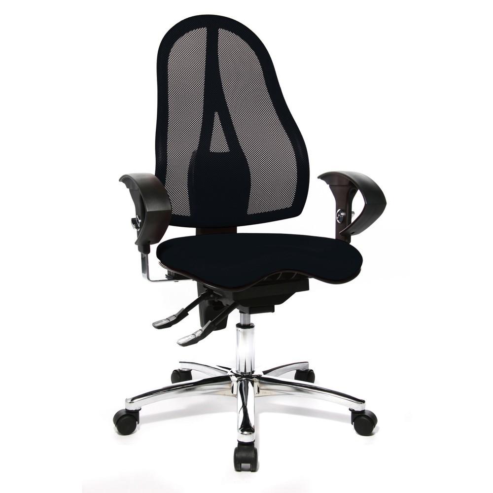 Image of Bürodrehstuhl Ortho 15: Stärkt Ihren Rücken und verbessert Ihre Sitzhaltung Sie sitzen Sie von früh bis spät im Büro? Dann ist ein ergonomisch geformter Schreibtischstuhl besonders wichtig, damit Sie in einer gesunden Haltung dauerhaft konzentriert arbeit