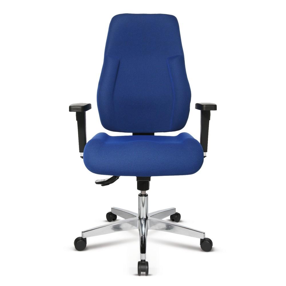 Image of Bürodrehstuhl P91 mit Polsterung für einen gesunden Rücken Ob im Büro oder im Labor – bei Tätigkeiten, die täglich langes Sitzen erfordern, ist ein bequemer, ergonomisch geformter Stuhl Pflicht. Der Bürodrehstuhl P91 mit seiner Polsterung aus weichem, for
