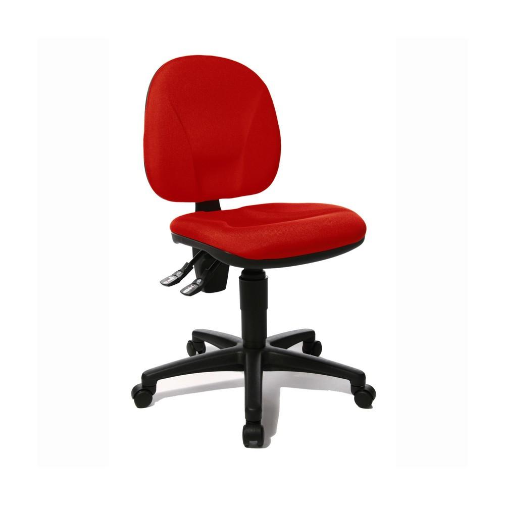 Image of Solider Schreibtischstuhl mit grossem Komfortfaktor Dieser Bürostuhl bringt alle Eigenschaften mit, um Ihnen während des gesamten Arbeitsstages eine bequeme und entlastende Sitzposition zu ermöglichen. Der Sitz und die nach innen gewölbte Lehne sind so ge
