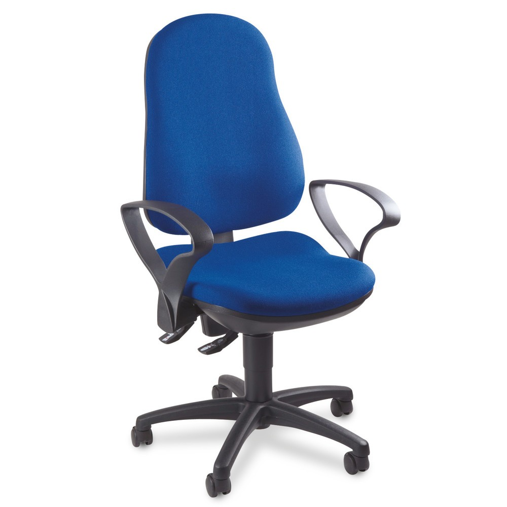Image of Mehr Ergonomie durch den Bürodrehstuhl Point 70 mit Bandscheibensitz Der Bandscheiben-Bürostuhl lässt sich dank seines Sicherheitsgasliftes stufenlos in der Sitzhöhe verstellen. Die Rückenlehne ist ergonomisch geformt und verfügt über eine integrierte Len