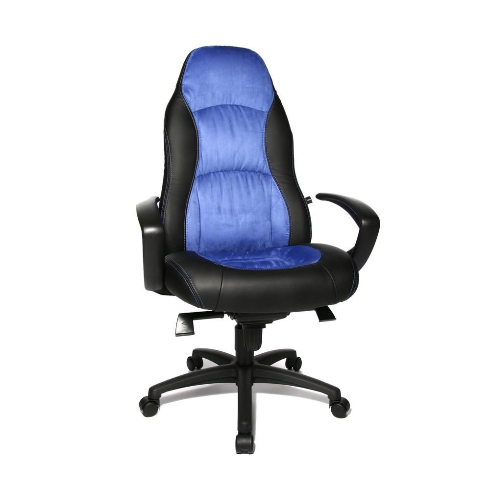 Image of Chefsessel mit sportlichem Komfortsitz und Ergonomie-Extras Der Bürodrehstuhl Topstar® Speed Chair begeistert neben arbeitsentlastenden Funktionen vor allem durch sein sportliches Design. Durch die breitere Formgebung im Bereich der Lendenwirbel ist die R
