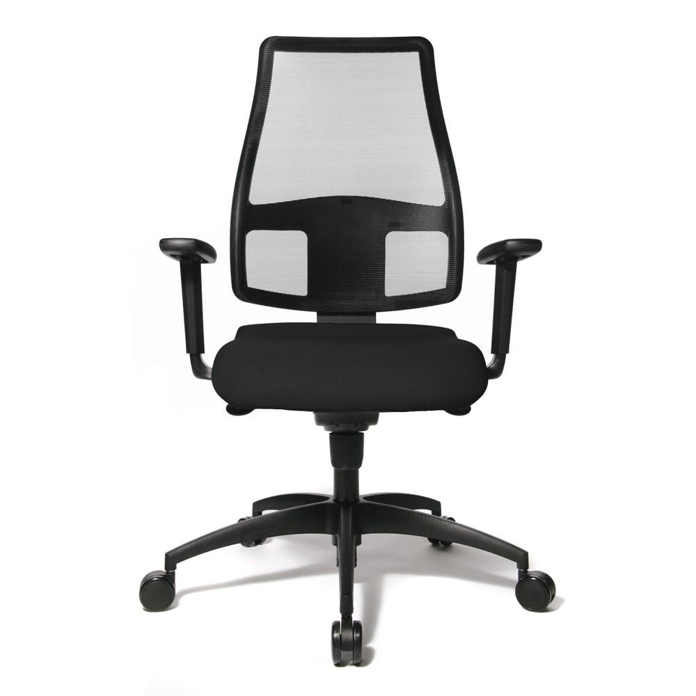 Image of Bürodrehstuhl Topstar® Syncro – mit einem guten Gefühl im Rücken arbeiten Wer auf diesem Bürostuhl arbeitet, bekommt in jeder Sitzposition aktive Unterstützung. Durch die Punktsynchron-Mechanik reagieren sowohl der Sitz als auch die Rückenlehne auf Ihre B
