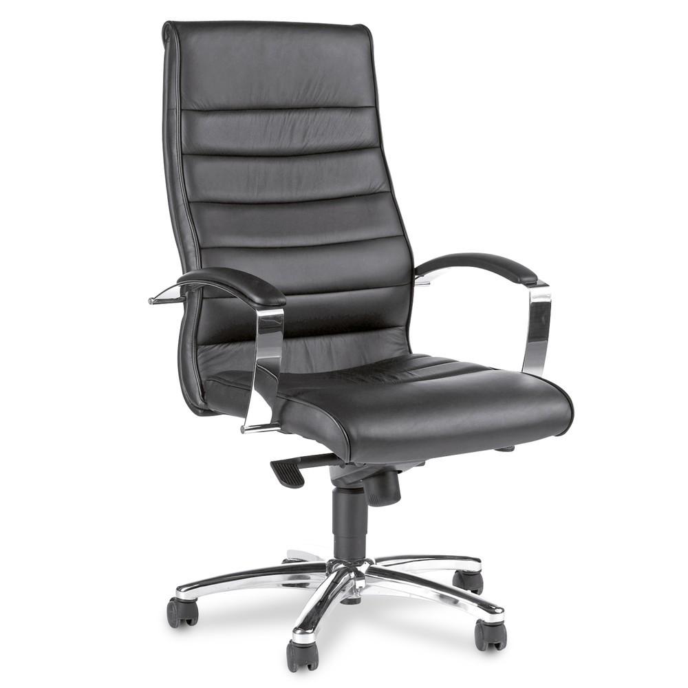Image of Ergonomisch und komfortabel: Der Bürodrehstuhl PREMIUM Bei langen Sitzintervallen ist die Körperhaltung besonders wichtig für die Gesundheit des Bewegungsapparates. Der Lederdrehsessel PREMIUM bietet Ihnen durch individuelle Sitzeinstellungen die Möglichk