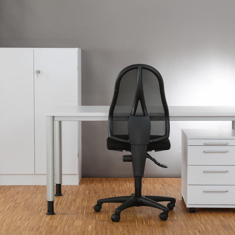 Image of Büromöbel-Set Small Office – Ihre Grundausstattung fürs Büro Dieses Möbel-Set fürs Büro mit Rollcontainer, Schreibtisch und Schrank ist aus melaminharzbeschichteter Holzwerkstoffplatte gefertigt. Die Oberfläche ist kratzfest, feuchtigkeitsbeständig und le