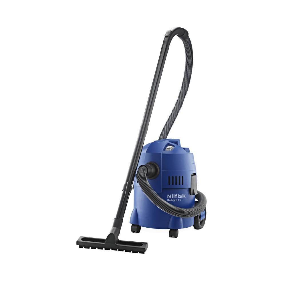 Image of Die perfekte Lösung für die Reinigung von nassen oder trockenen Böden Der Bürosauger Nilfisk® Buddy II ist geeignet für nasse oder trockene Reinigungsaufgaben. Somit erstreckt sich sein Einsatzbereich über das Büro hinaus auch auf bspw. Garagen, Autoinnen