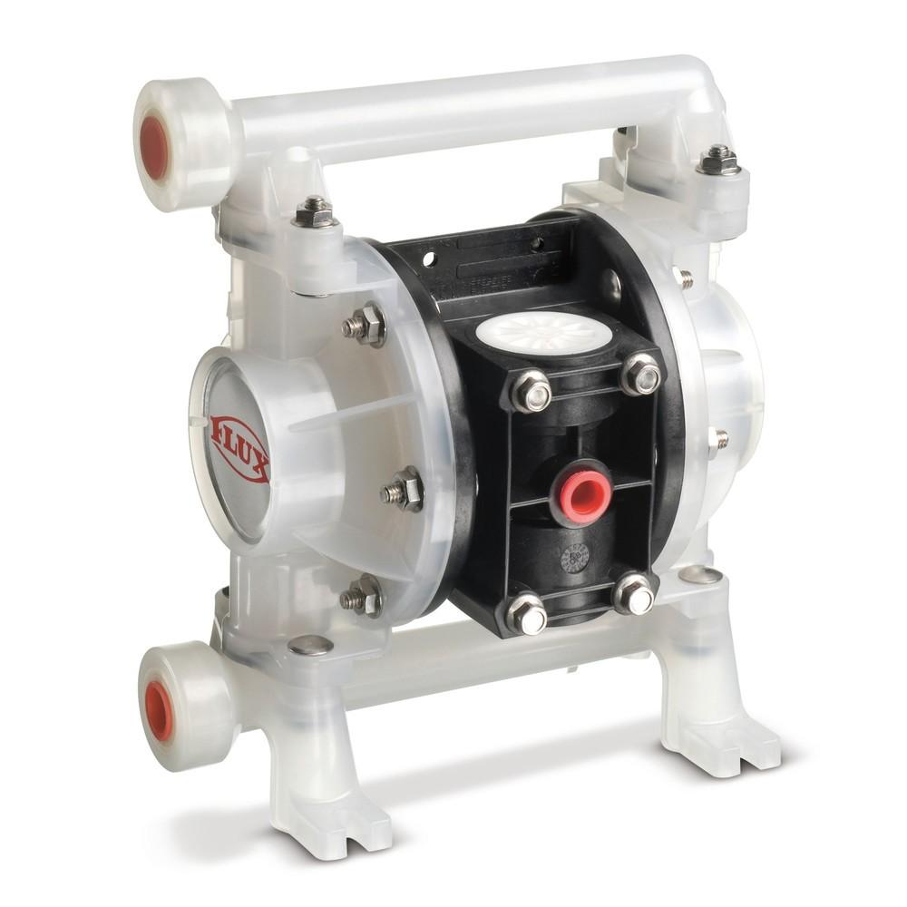 Image of Membranpumpe mit Druckluft – für sicheres Arbeiten Druckluft-Doppelmembranpumpen sind speziell zum sicheren Arbeiten mit brennbaren, aggressiven oder verunreinigten Flüssigkeiten gedacht. Ihre maximale Fördergeschwindigkeit liegt bei 40 l/min, sodass Sie