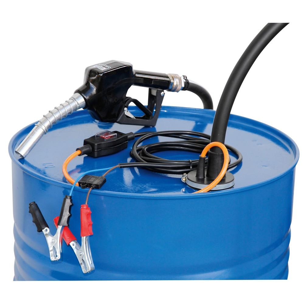 Image of Elektropumpe CEMO – Vielseitig einsetzbar und selbstansaugend Mit der Elektropumpe CEMO können Sie leicht eine grössere Menge Flüssigkeit aus einem Behälter fördern. Die Pumpe wird einfach durch die Fassöffnung bis zum Boden des Behälters eingeführt. Mitt