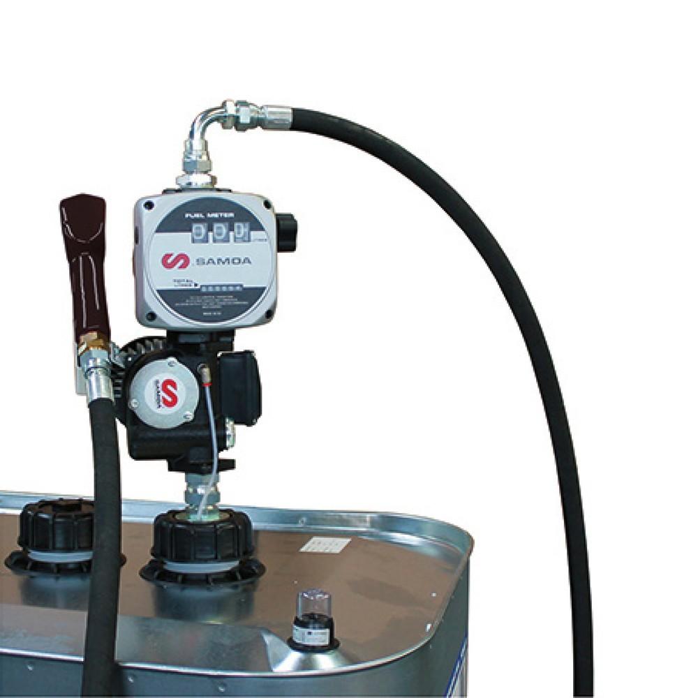 Image of Ideale Lösung für die schnelle Betankung mit Diesel, Biodiesel und Heizöl Mit der Elektropumpe SAMOA-HALLBAUER Dieselmatic® 60 Typ S können Sie leicht eine grössere Menge Diesel, Biodiesel und Heizöl aus einem Behälter wie z. B. IBC-Container oder 200-Lit