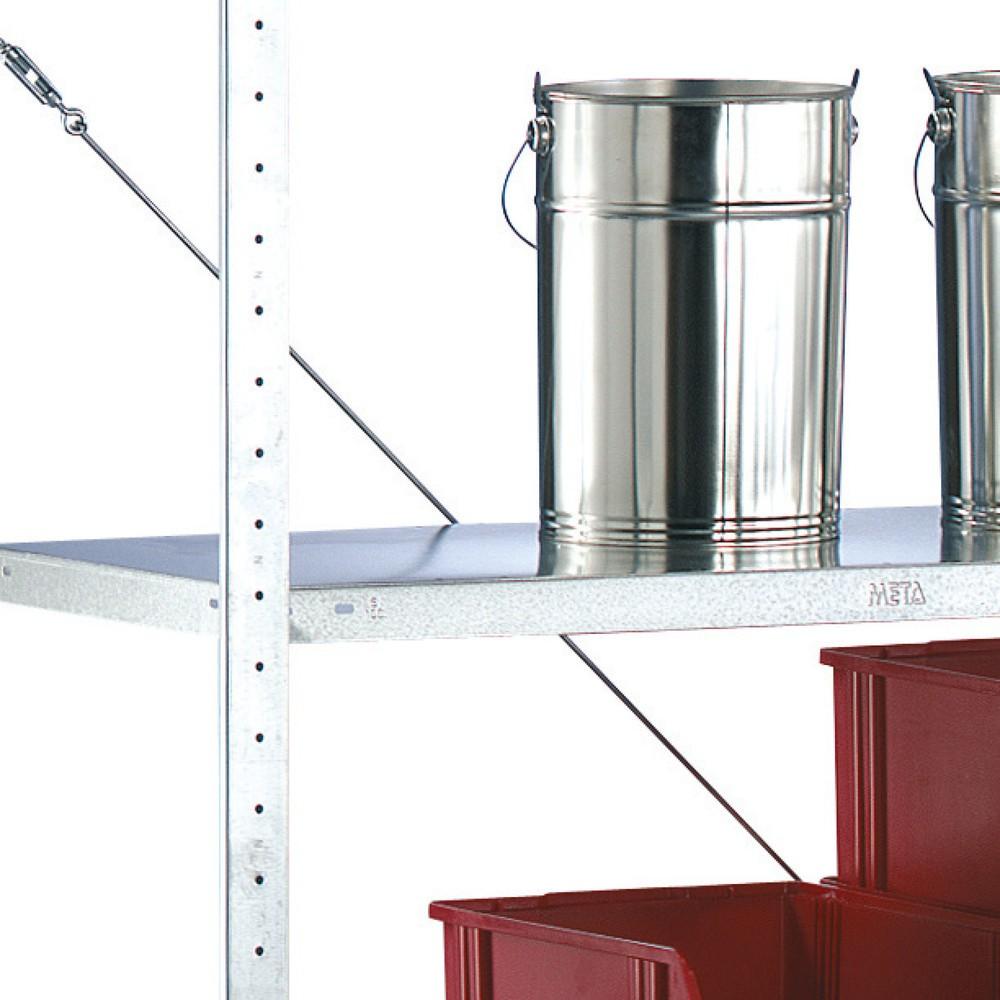 Image of  Belastbar bis 80 kgFachboden für Fachbodenregal META Stecksystem, FL 80 kg, BxT 1.000 x 300 mm Fachboden für Fachbodenregal META Stecksystem, FL 80 kg, BxT 1.000 x 300 mm