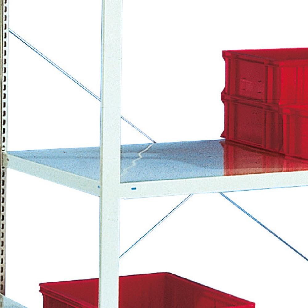 Image of  Für StecksystemFachboden für Weitspannregal META, einzeilig, lichtgrau, BxT 1.300 x 400 mm Fachboden für Weitspannregal META, einzeilig, lichtgrau, BxT 1.300 x 400 mm