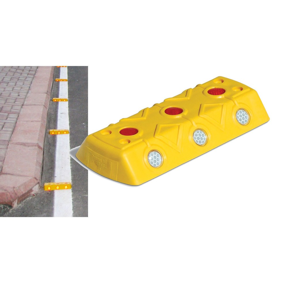 Image of Robuster Markierungsnagel für sichere Fahrbahnkennzeichnung Der Fahrbahnmarkierungsknopf aus Polypropylen (PP) besteht aus robustem Material und eignet sich ideal zur Fahrbahnmarkierung. Mithilfe der integrierten Schraublöcher kann der Fahrbahnmarkierungs