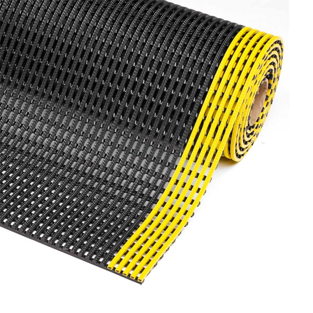 Image of Gittermatte aus Polyvinylchlorid (PVC) – für einen sicheren Stand am Arbeitsplatz Das Design der Gittermatte aus PVC bietet eine gute Drainage und Luftzirkulation, daher können sich Flüssigkeiten nicht ansammeln und trocknen schnell ab. Diese mindert effe
