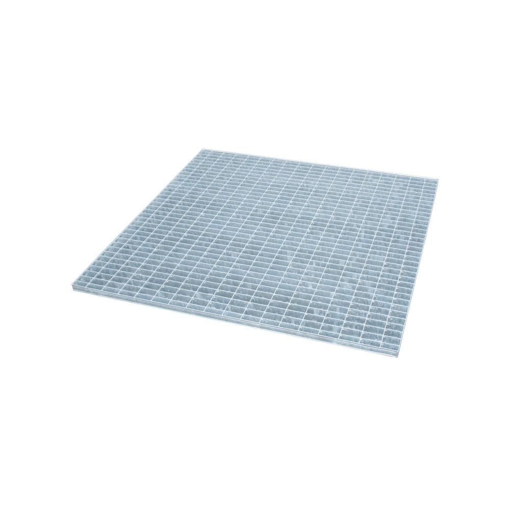 Image of  Für Fässer mit 60–200 l Inhalt geeignetGitterrost für Auffangwanne aus Edelstahl, verzinkt, BxT 1.200 x 1.200 mm Gitterrost für Auffangwanne aus Edelstahl, verzinkt, BxT 1.200 x 1.200 mm