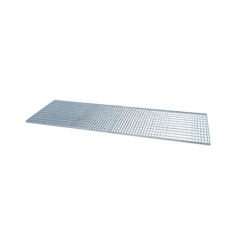 Image of  Für Fässer mit 60–200 l Inhalt geeignetGitterrost für Auffangwanne aus Edelstahl, verzinkt, BxT 2.400 x 800 mm Gitterrost für Auffangwanne aus Edelstahl, verzinkt, BxT 2.400 x 800 mm