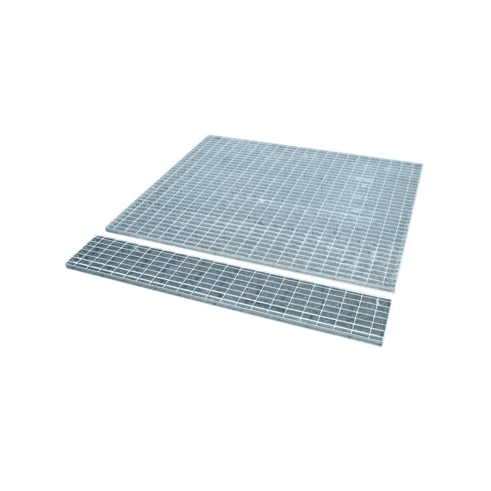 Image of  Für Fässer mit 60–200 l Inhalt geeignetGitterrost für Auffangwanne aus Edelstahl, verzinkt, BxT 1.460 x 1.460 mm, 1x IBC Gitterrost für Auffangwanne aus Edelstahl, verzinkt, BxT 1.460 x 1.460 mm, 1x IBC