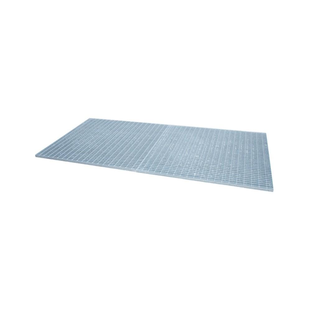 Image of  Für Fässer mit 60–200 l Inhalt geeignetGitterrost für Auffangwanne aus Edelstahl, verzinkt, BxT 1.300 x 2.650 mm, 2x IBC Gitterrost für Auffangwanne aus Edelstahl, verzinkt, BxT 1.300 x 2.650 mm, 2x IBC