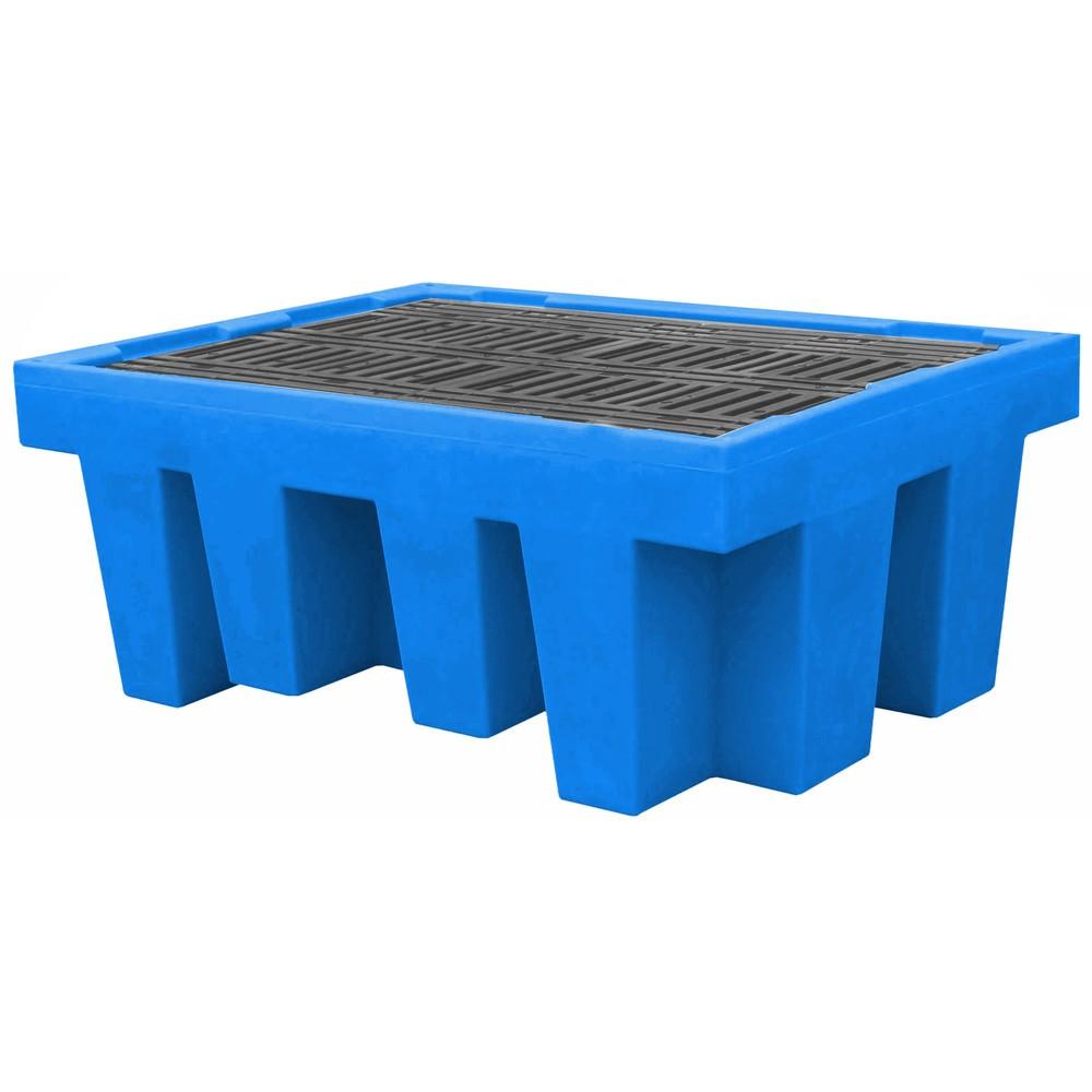Image of Fachgerechte Lagerung mit der Auffangwanne für KTC/IBC aus Polyethylen Die fachgerechte Lagerung von IBC-Stationen erfolgt mit der Auffangwanne für KTC/IBC aus Polyethylen einfach und sicher. Die Auffangwannen verfügen über die allgemeine bauaufsichtliche