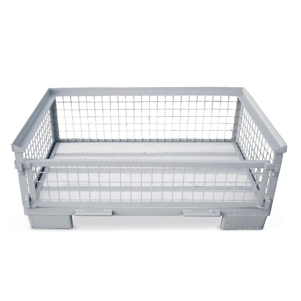Image of Vereinfachen Sie Lagerung und Transport durch Gitterboxen Oftmals ist es eine anspruchsvolle Aufgabe, Einzelteile mit hohem Gewicht oder grossformatige Transportgüter im Betrieb zu transportieren und zu lagern. In diesen halbhohen Gitterbox-Varianten könn