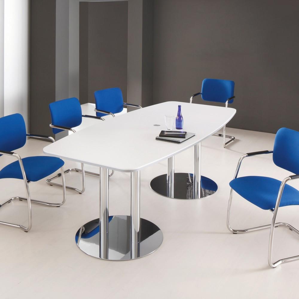 Image of Der Konferenztisch Meeting – für eine professionelle Arbeitsumgebung Der Konferenztisch Meeting eignet sich für die Ausstattung von Meeting- und Konferenzräumen. Mit Massen von 2.200 x 1050 mm (B x T) bietet er mehreren Personen ausreichend Arbeits- und A