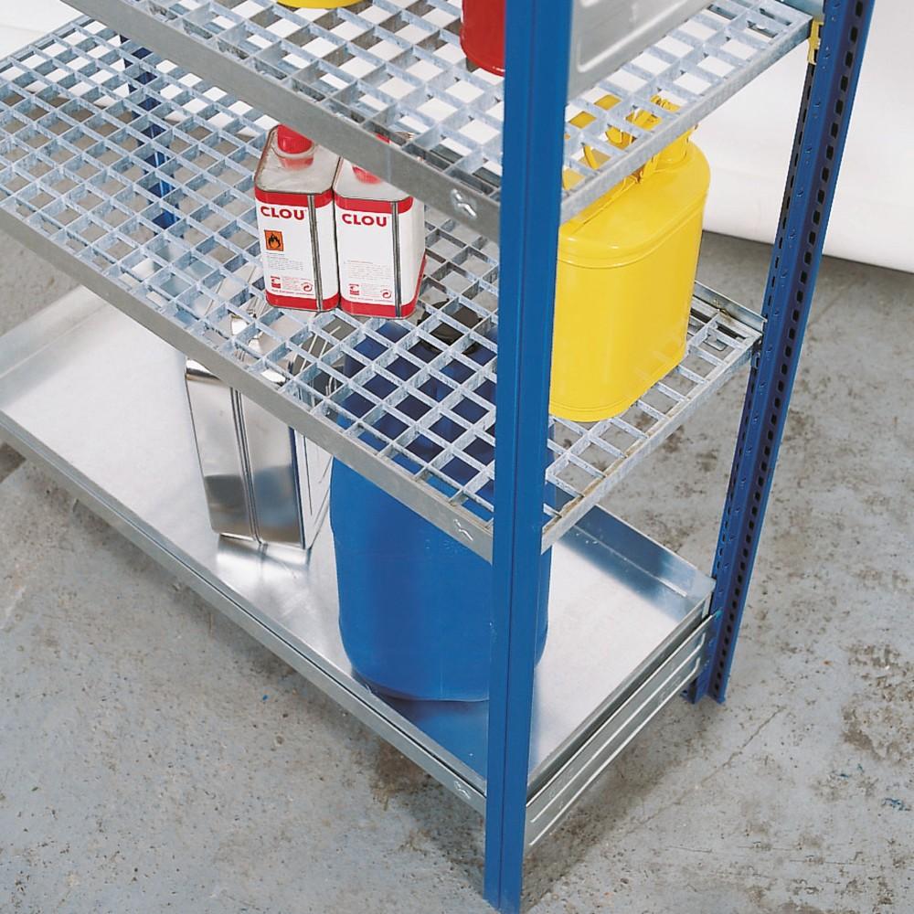 Image of  Ermöglicht eine individuelle RegalerweiterungLagerebene für Gefahrstoffregal asecos®, für gewässergefährdende Flüssigkeiten, Breite 1.060 mm Lagerebene für Gefahrstoffregal asecos®, für gewässergefährdende Flüssigkeiten, Breite 1.060 mm