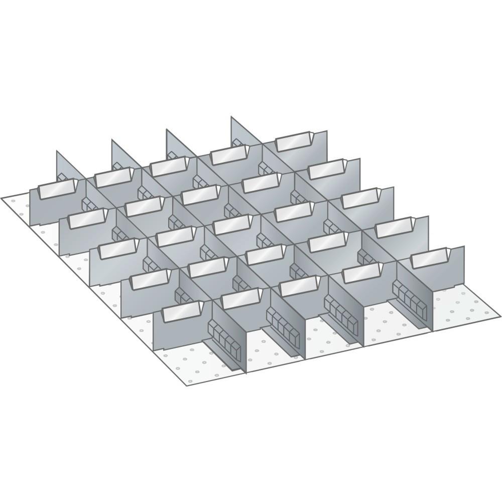 Image of  10 Trennbleche 6 ELISTA Set Schlitzwände und Trennbleche 27x36E, (BxT) 459x612mm, 4 Schlitzwände, 25 Trennbleche, für Fronthöhe 100mm LISTA Set Schlitzwände und Trennbleche 27x36E, (BxT) 459x612mm, 4 Schlitzwände, 25 Trennbleche, für Fronthöhe 100mm