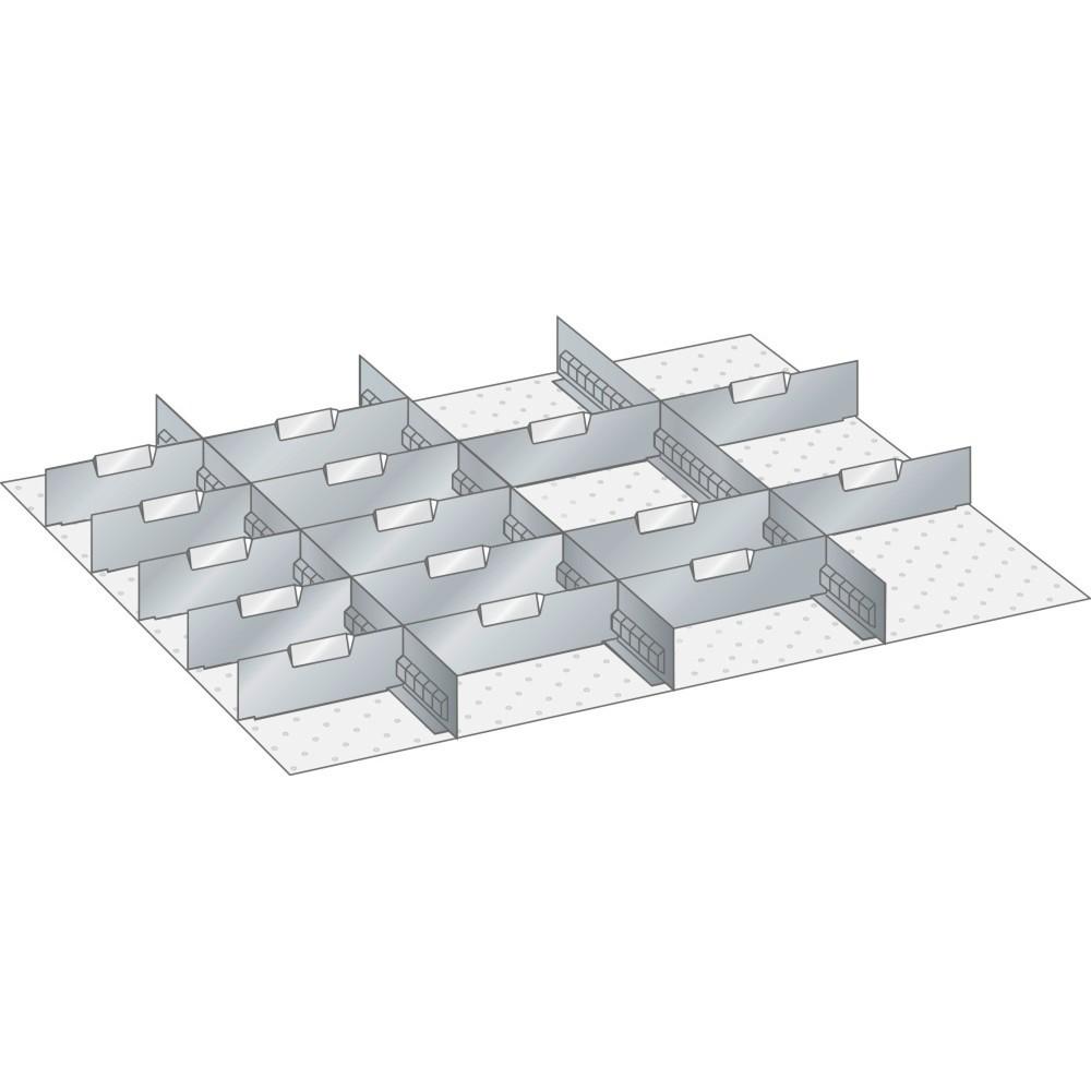 Image of  10 Trennbleche 12 ELISTA Set Schlitzwände und Trennbleche 45x36E, (BxT) 765x612mm, 4 Schlitzwände, 15 Trennbleche, für Fronthöhe 100mm LISTA Set Schlitzwände und Trennbleche 45x36E, (BxT) 765x612mm, 4 Schlitzwände, 15 Trennbleche, für Fronthöhe 100mm