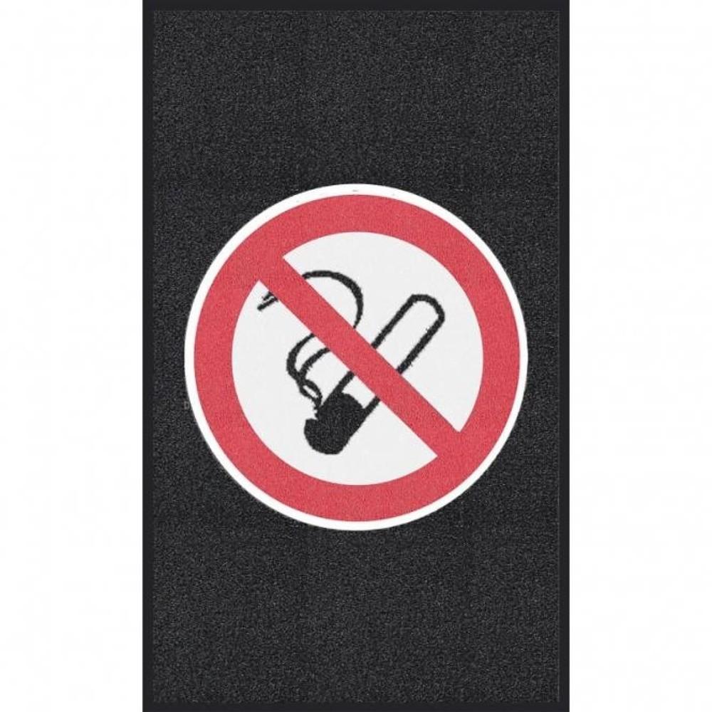 Image of Multifunktionale Logomatte mit deutlich sichtbarem Verbotszeichen Diese Logomatte m2™ 'Rauchen verboten' eignet sich bestens als Schmutzfangmatte für Ihren Eingangs- oder Durchgangsbereich. Die Schlingenmatte besteht aus strapazierfähigem PVC und ist mit