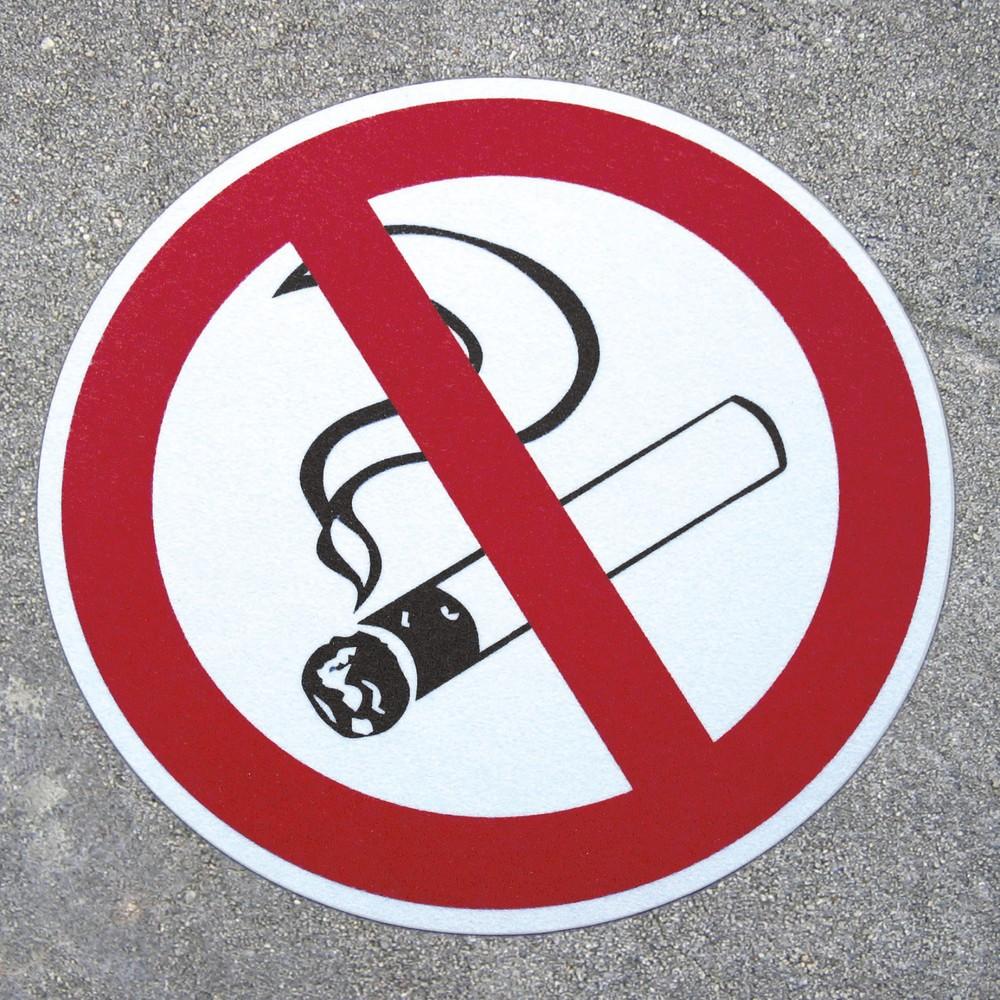 Image of  Mit rutschfester Aluminiumoxidkörnung auf PVC TrägermaterialRauchen verboten, ø 400 mm Rauchen verboten, ø 400 mm